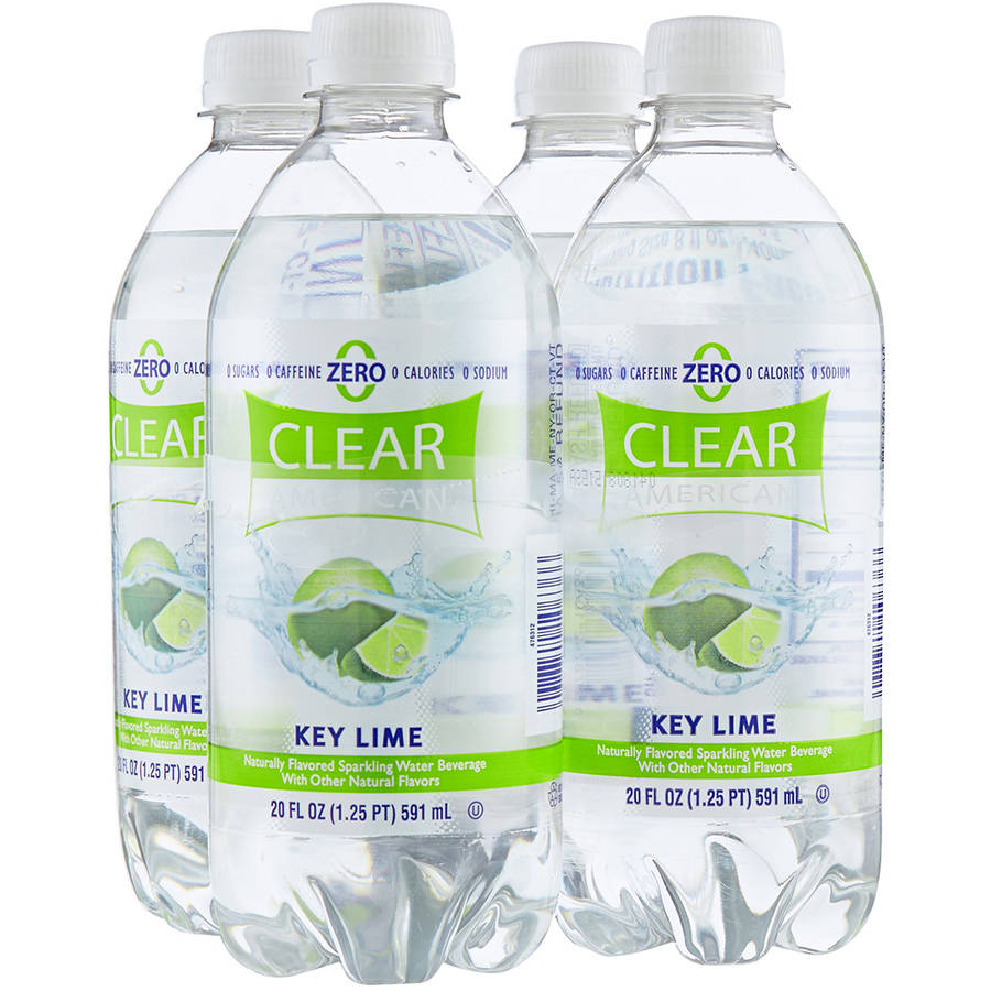 Clear American Key Lime Sparkling Water Beverages, 20 fl oz, 4 pack