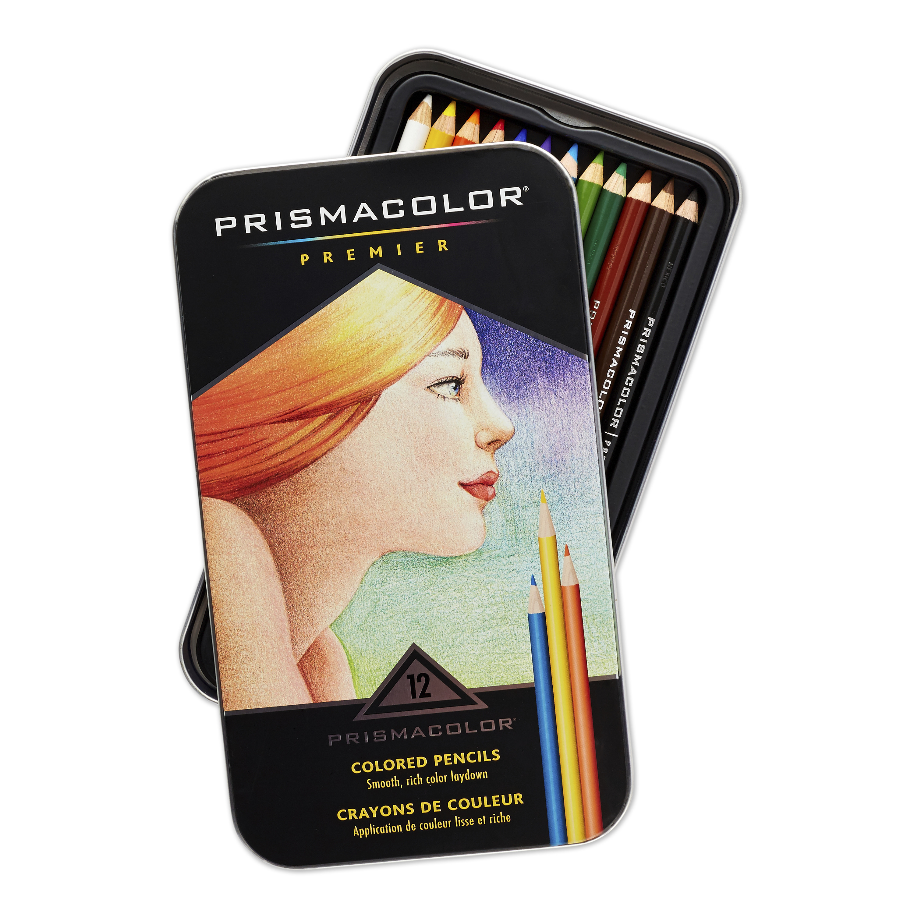 Prismacolor Premier Colored Pencils, Soft Core, 12 Pack