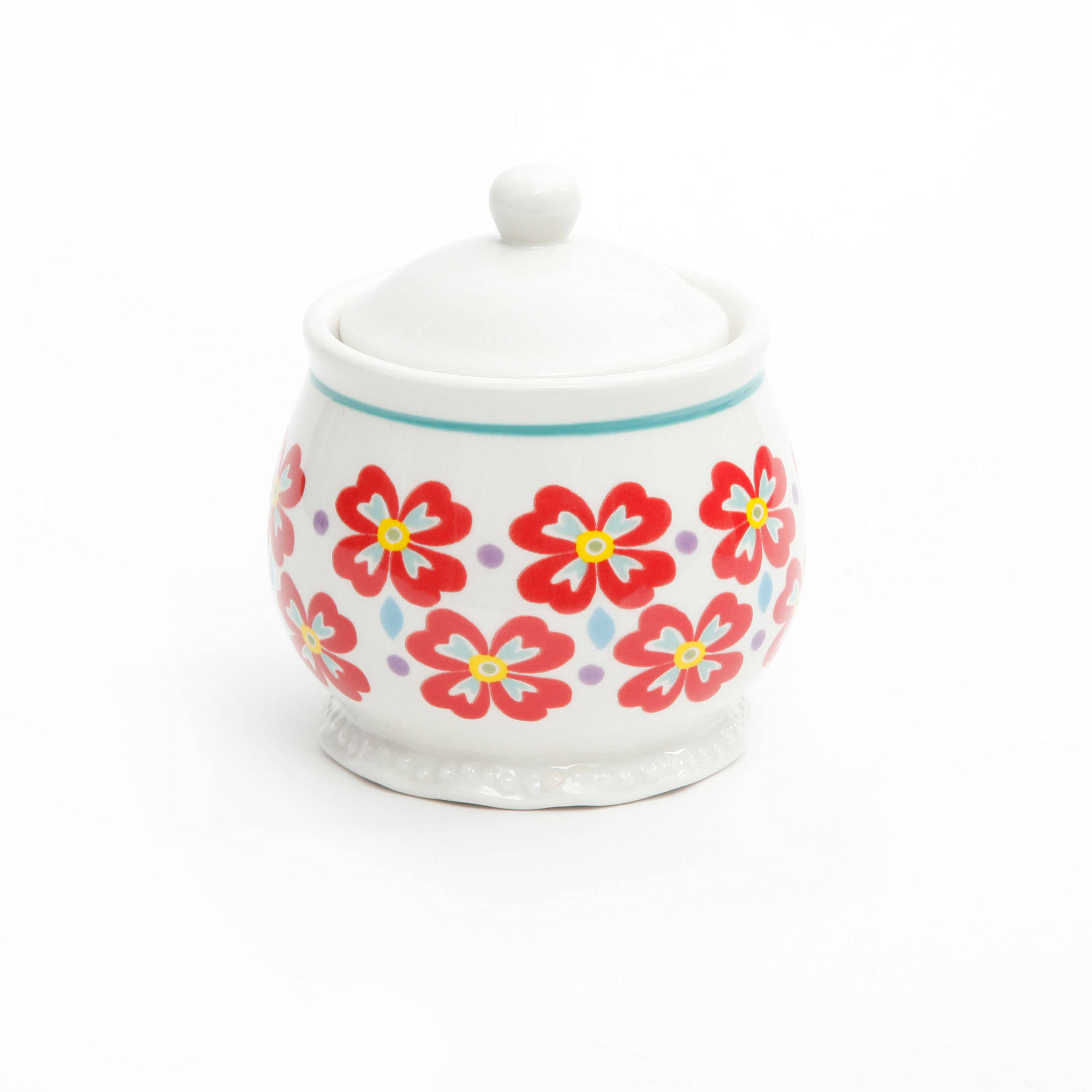 Sugar bowls with lids - The Pioneer Woman Flea Market Decorated Sugar And Creamer With Salt And Pepper Shakers Walmart Com