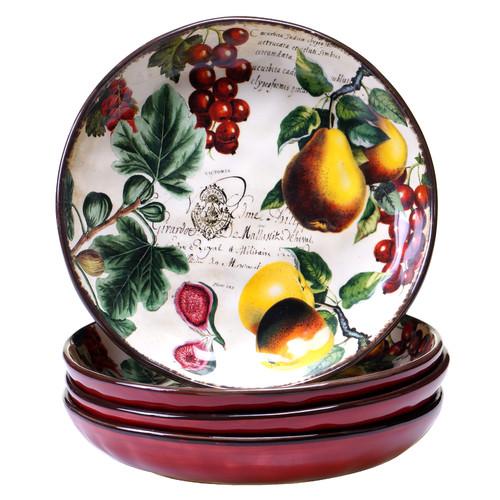 Certified International Botanical Fruit 4 Piece Soup Bowl Set by Certified International