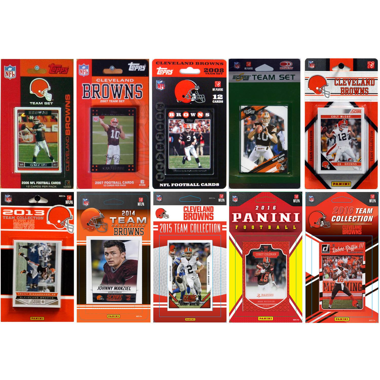 C & I Collectables NFL Cleveland Browns 10 Different Licensed Trading Card Team sets