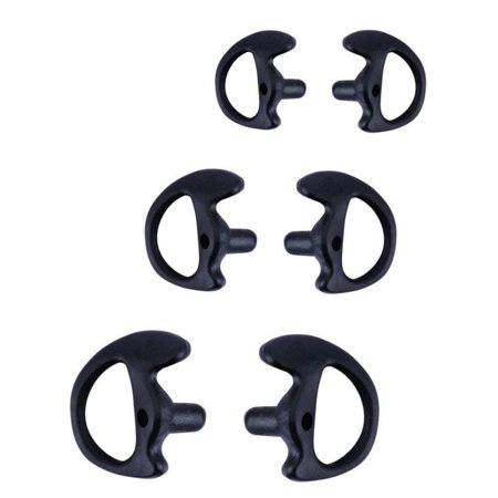 3 Pair 2-Way Radio Ear Mold Replacing Earpiece Insert For Acoustic Coil Tube (Cyber Acoustics Ear Clip)