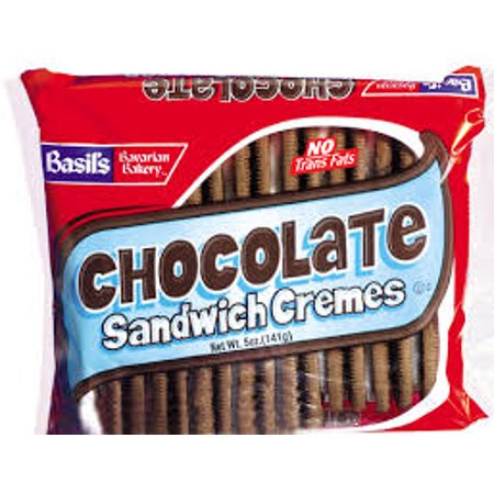 Basils Chocolate Sandwich Chocolate Creme Cookie, 5 oz, 24 Ct](Cookies And Cream Chocolate)