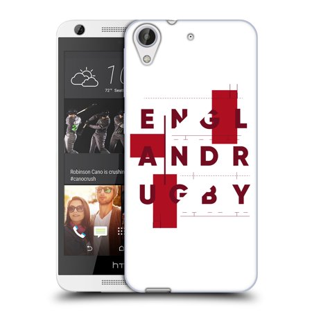 OFFICIAL ENGLAND RUGBY UNION 2017/18 FIRST XV SOFT GEL CASE FOR HTC PHONES 1