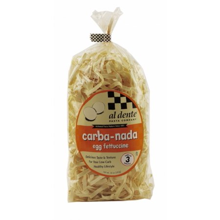 Al Dente Carba-Nada - Fettuccine, Low Carb Pasta, Low Carb Noodles, High Fiber, Cooks in 3 Minutes, Egg