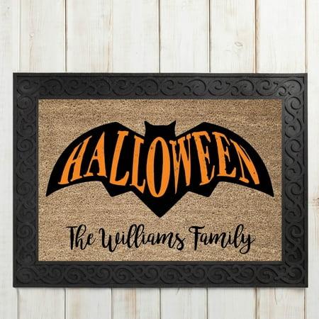 Halloween Bat Personalized Doormat - Halloween Math Ideas For Preschoolers