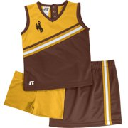 Russell NCAA Wyoming Cowboys, Toddler Girls 3 pc Cheer Set