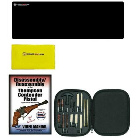 AGI DVD Thompson Contender Pistols Disassembly Reassembly + Ultimate Arms  Gear Gunsmith & Armorer Cleaning Bench Gun Mat + 17pc Handgun Pistol