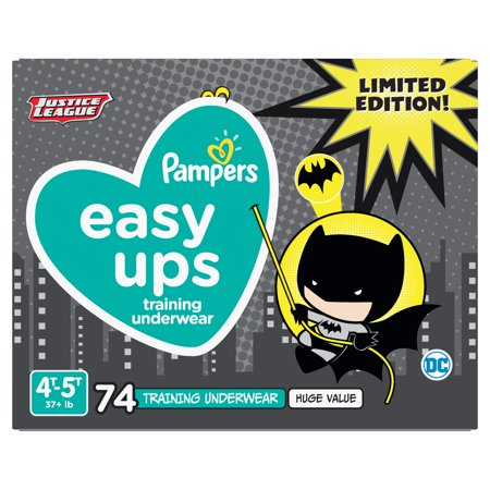 Pampers Easy Ups Justice League Training Underwear Boys Size 6 4T-5T 74 (Best Training For Hiking)