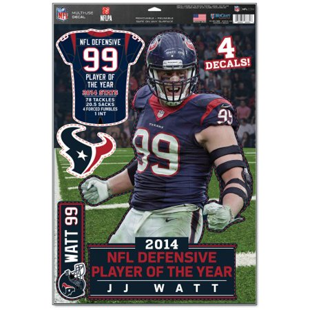 2014 NFL Defensive Player of the Year Multi-Use J.J. Watt Decal 11