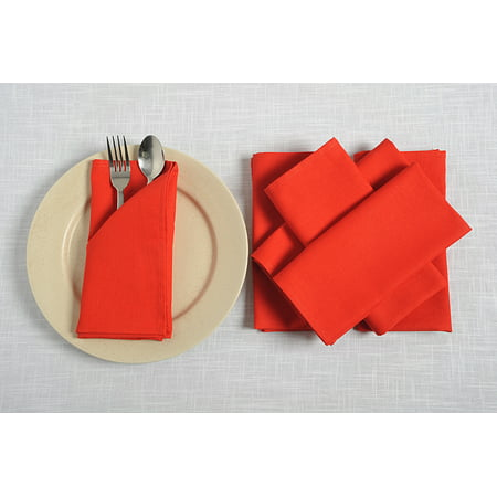 Cotton Table Napkins (In-Sattva Home 100% Pure Cotton Solid Color Soft Touch Feel Table Napkin Set; Ideal for Family, Get-together, Friends, Parties; Set of 6; 18 X 18;)