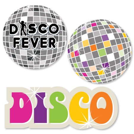70's Disco - Shaped 1970's Disco Fever Party Cut-Outs - 24 Count
