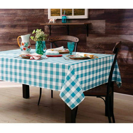 The Pioneer Woman Charming Check Tablecloth Teal