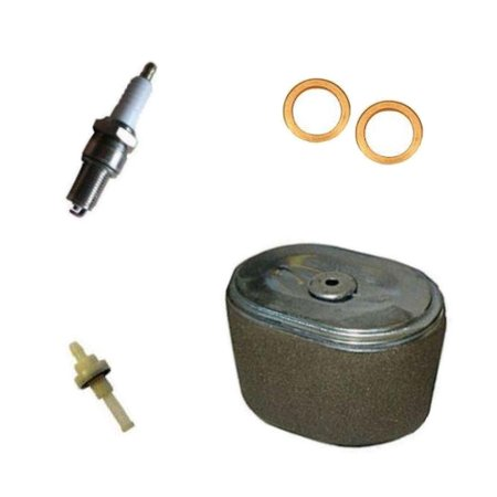 FITS HONDA GX240 SERVICE KIT SPARK PLUG AIR FILTER COPPER WASHER FUEL PETCOCK