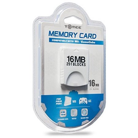 Tomee 16MB Memory Card (251 Blocks) for Nintendo Wii and (Best Memory Card For Wii)