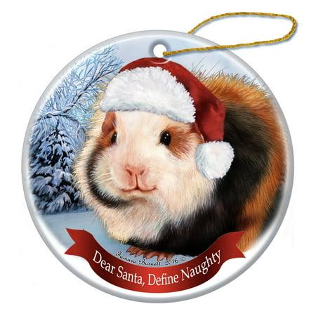 Holiday Pet Gifts Teddy Bear Guinea Pig Santa Hat Porcelain Christmas Tree  Ornament - Walmart.com - Holiday Pet Gifts Teddy Bear Guinea Pig Santa Hat Porcelain