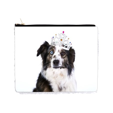 Black and White Dog in a Crown - 2 Sided 6.5