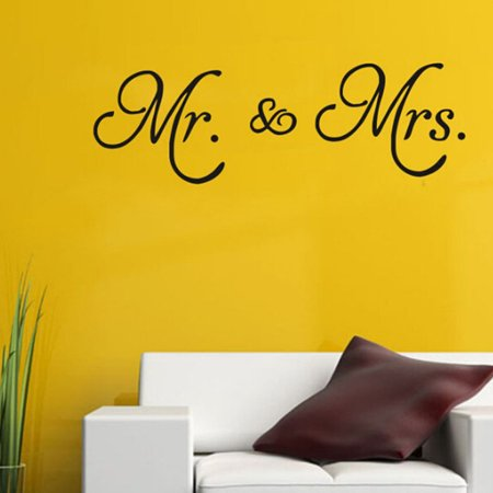 Wall Sticker Clearance,Kapmore Mr. & Mrs. Letter Removable Wall Decal Wall Sticker Decor for Home Living Room Bedroom ()
