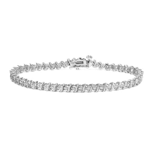 Auriya 14k White Gold 1 2ct TDW Round Diamond Link Bracelet by Overstock