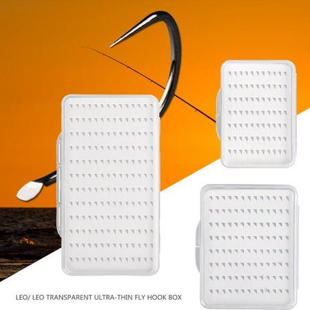 Appearancnes 28055 Transparent Ultra-Thin Fly Hook Box Fly Fishing Hook Box Fishing Gear