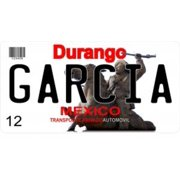 mexico durango photo license plate free personalization on this plate