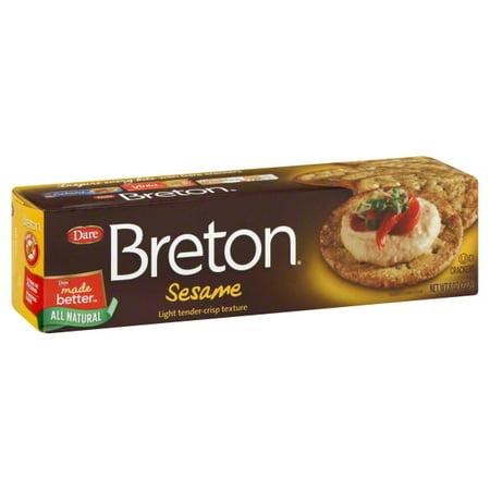 Dare Breton Sesame Crackers, 8 - Breton Flower