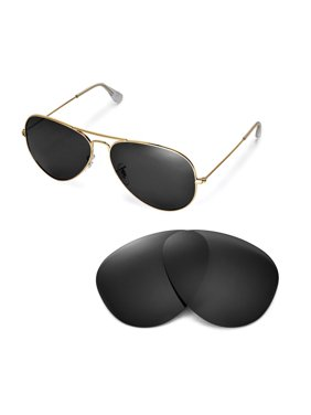 d45d305a35583 Product Image Walleva Black Polarized Replacement Lenses for Ray-Ban  Aviator Large Metal RB3025 62mm Sunglasses
