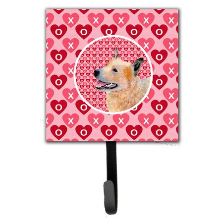Caroline's Treasures Australian Cattle Dog Valentine's Love and Hearts Leash Holder and Wall Hook