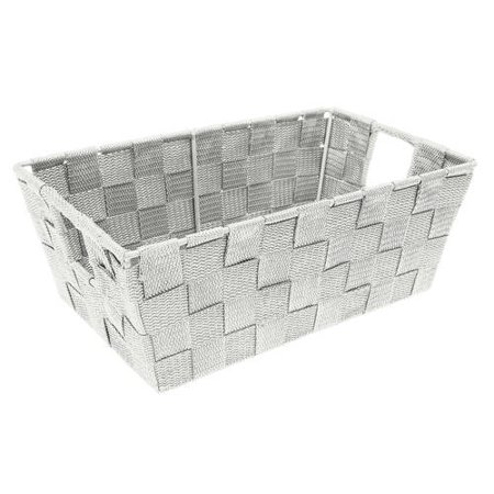 Check Small Tote - Simplify Woven Strap Tote, Small Shelf