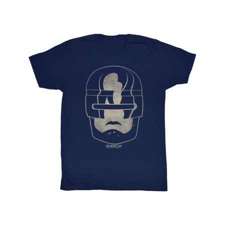 Robocop 1980's Action Crime Cop Movie Vintage Style Robo Head Adult T-Shirt (1980's Movies Halloween Costumes)