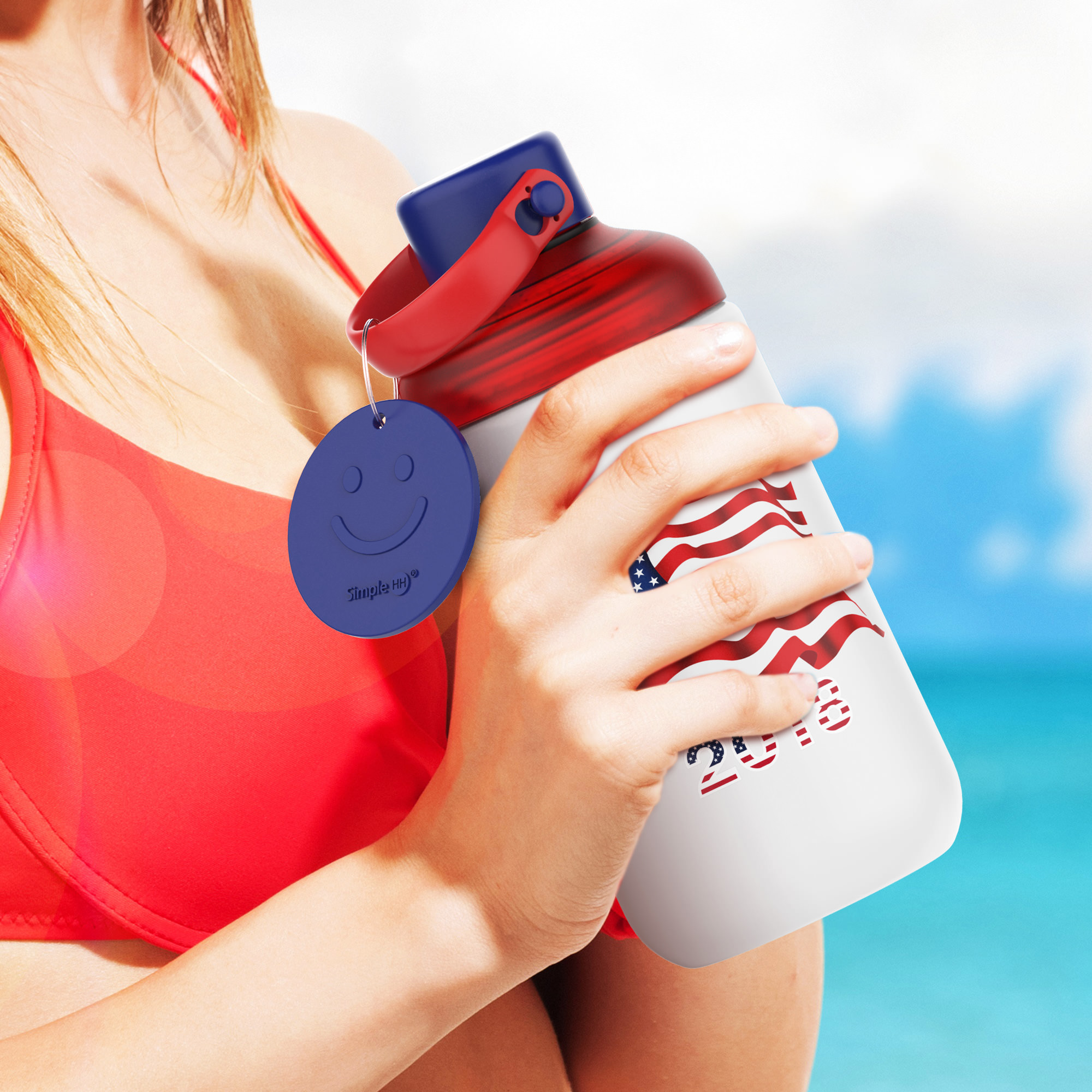 SimpleHH Silicone Glass Water Bottle|16 oz