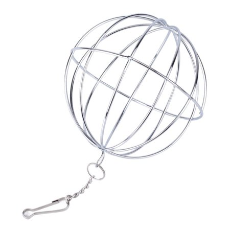Pet Supplies Hay Manger Food Ball Stainless Steel Plating Grass Rack Ball for Rabbit Guinea Pig Pet Hamster Supplies Super Pet Hay Manger