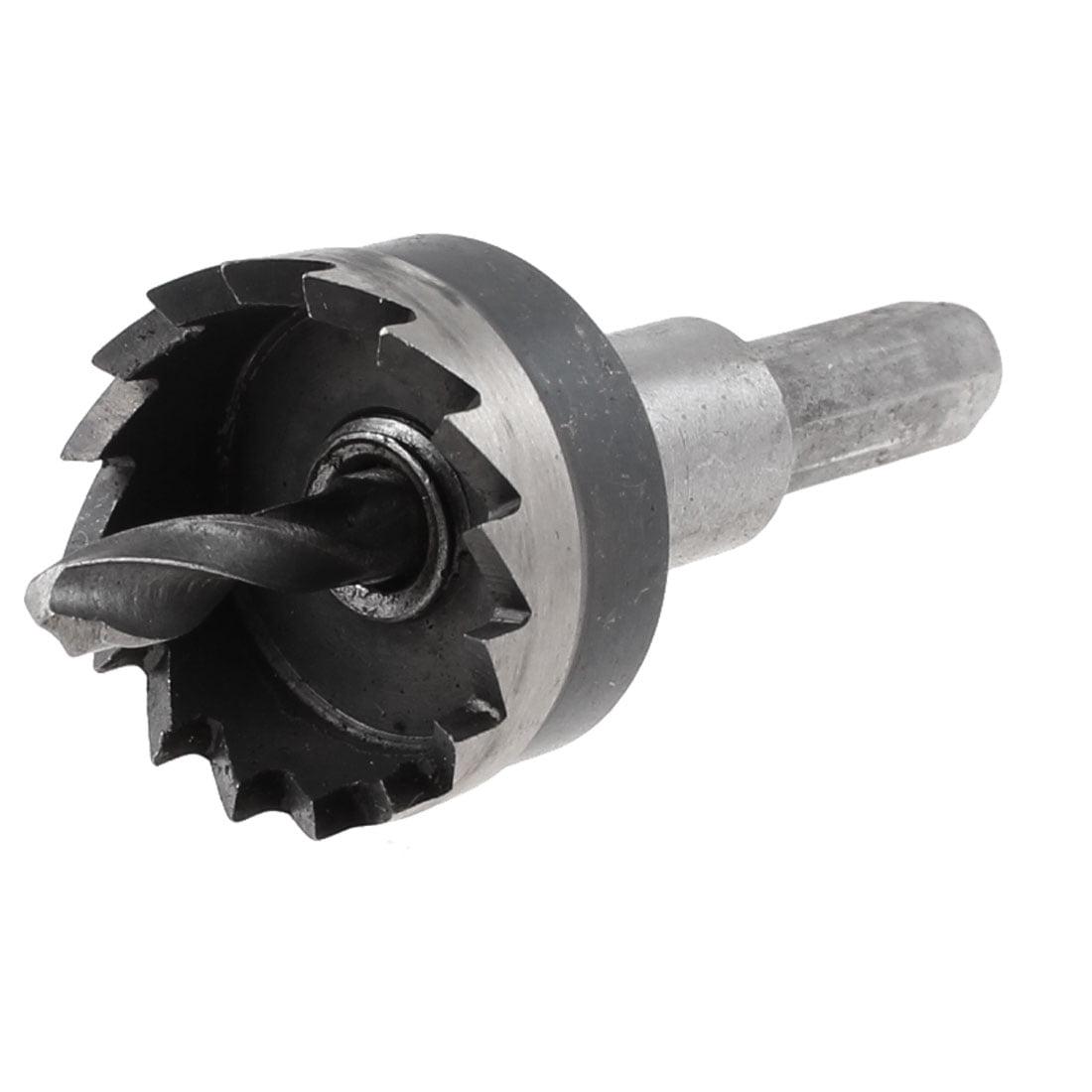 25mm Cutting Dia Triangle Shank Metal Iron Cutter HSS Twist Drill Bit Hole Saw