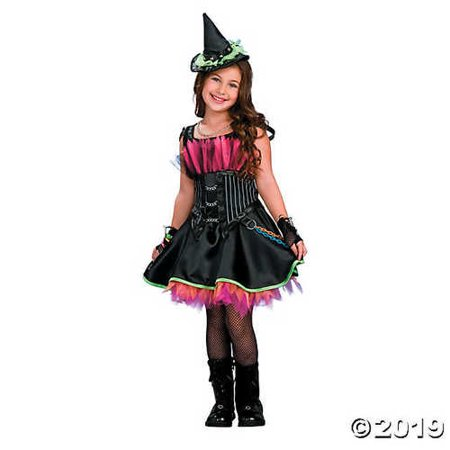 Girl's Rockin' Out Witch Costume - (Rockin' Out Witch Child Costumes)