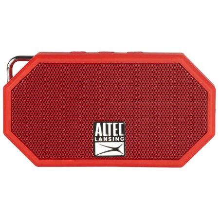 Altec Lansing Mini H20 Bluetooth Speaker-DEEP RED