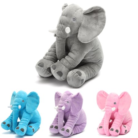 Grtsunsea Stuffed Animal Soft Cushion Baby Sleeping Soft Pillow Elephant Plush Cute Toy for Toddler Infant Kids Gift