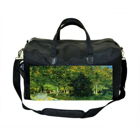 Vincent Van Gogh Avenue in the Park Large Black Duffel Style Diaper Baby Bag