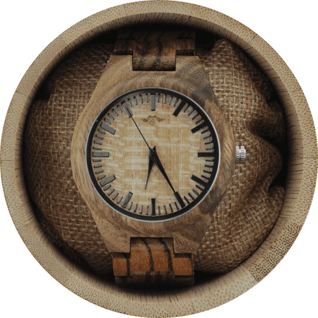 Angie Wood Creations Zebrawood Men's Watch with Zebrawood Band and Bamboo Dial - image 7 de 7