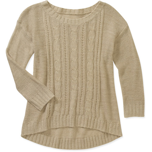 Faded Glory Women's Textured High Low Sweater