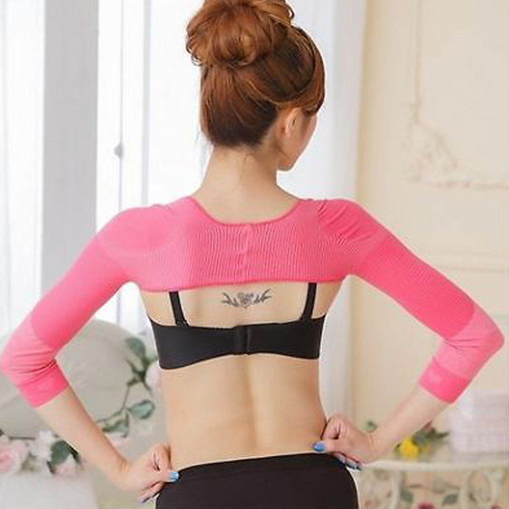 Arm Shaper for Slim Arms Shapewear Full Length Arm Tights Posture Corrector for Women Free Sleep Mask by (Black-SM)
