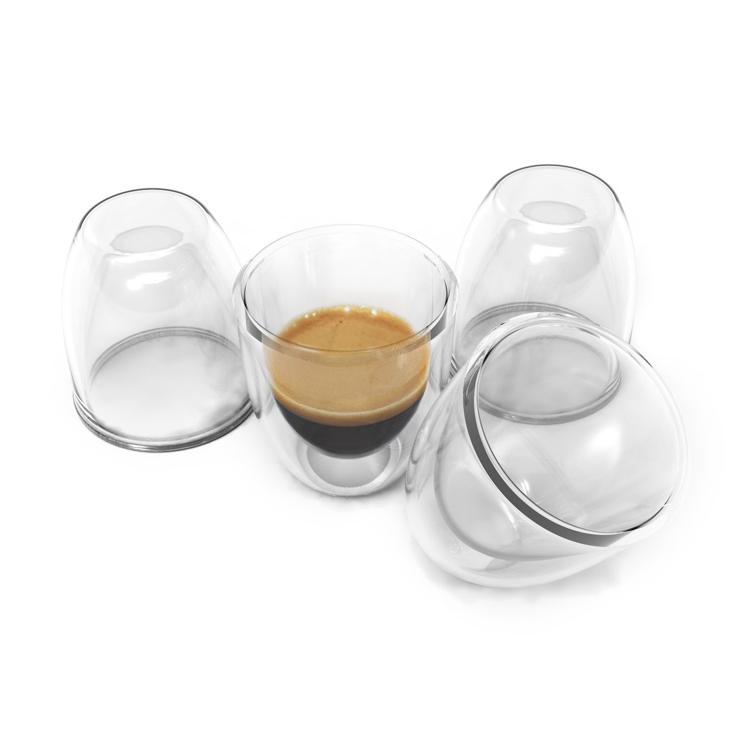 double wall espresso cups stylish double wall espresso cups set insulated coffee shot glasses 26oz of 26