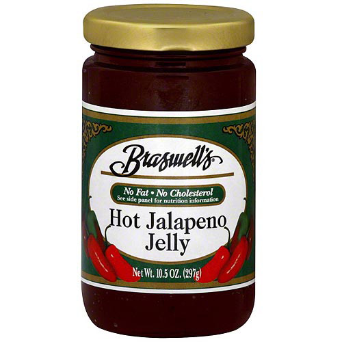 Braswell's Hot Jalapeno Jelly, 10.5 oz (Pack of 6)