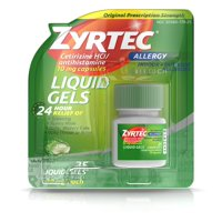 2 Pack - Zyrtec 24-Hour Allergy Relief, 10 mg, Liquid Gels 25 ea