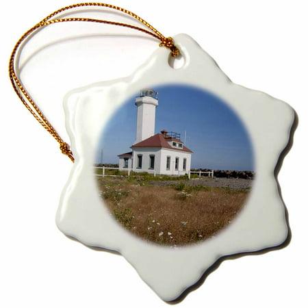 Pt Lighthouse - 3dRose Washington, Port Townsend, Pt Wilson lighthouse - US48 JWI3450 - Jamie and Judy Wild - Snowflake Ornament, 3-inch