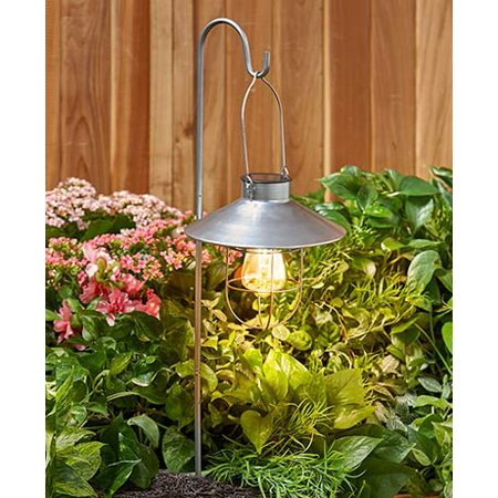The Lakeside Collection Lantern with Stake Silver ()