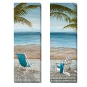 Artistic Home Gallery 'Walk on the Beach' by Nan 2 Piece Painting Print on Wrapped Canvas Set