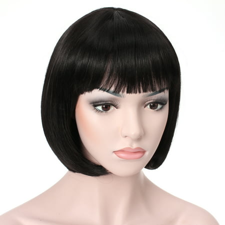"OneDor® 10"" Short Straight Flapper Bob Cosplay Hair - Red Hair Wigs Halloween"