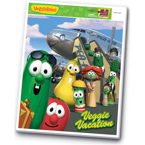 Veggies Veggie Vacation Inlaid Puzzle, 24 Pieces