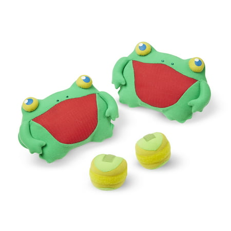 Melissa & Doug Sunny Patch Skippy Frog Toss and Grip Action Game - 2 Mitts, 2 Soft Balls](Doug And Melissa)