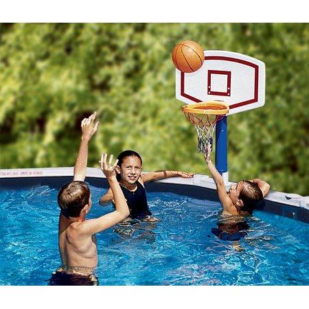Jammin above ground pool basketball game set - Pool basketball ...